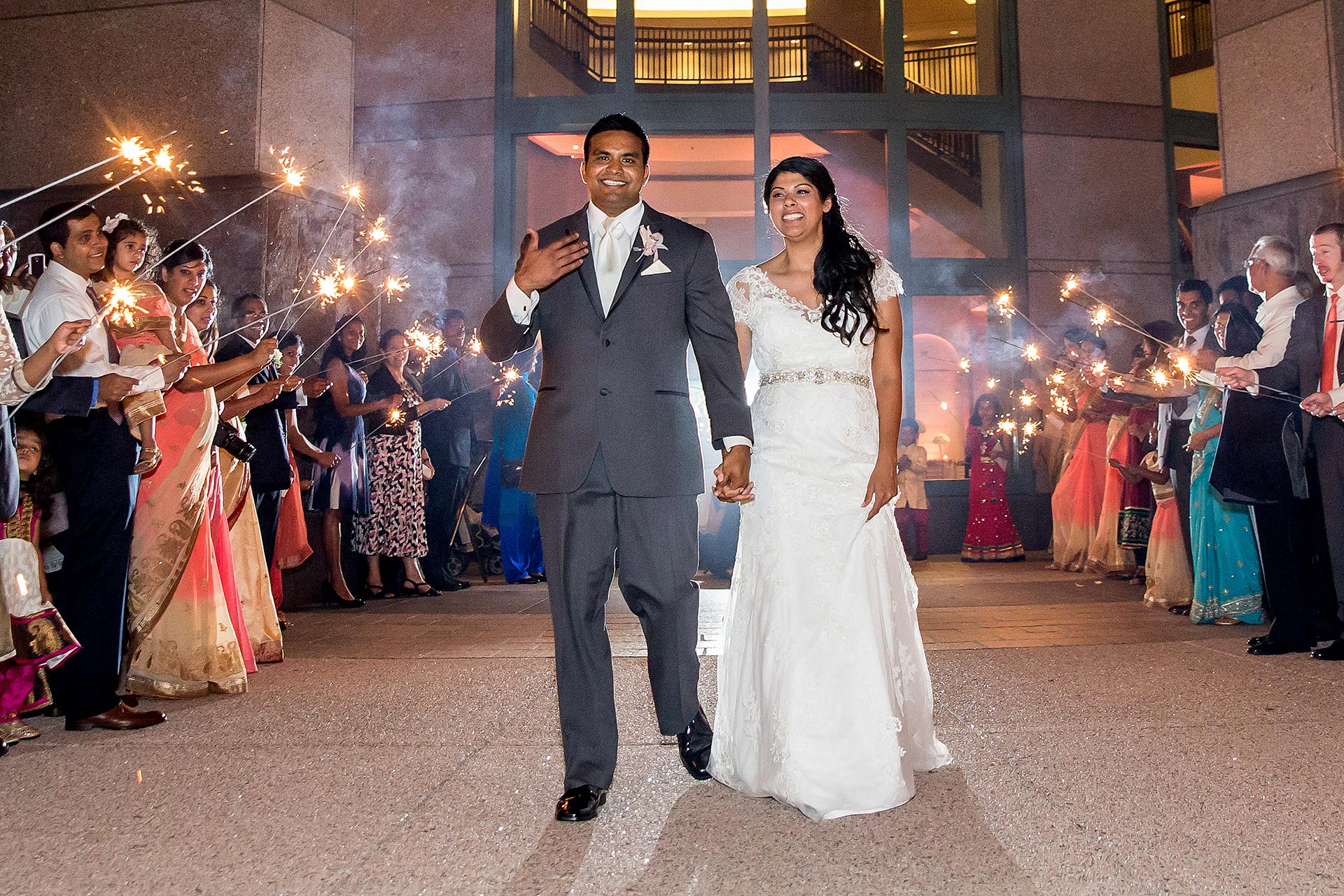 Downtown Austin Sparkler Wedding