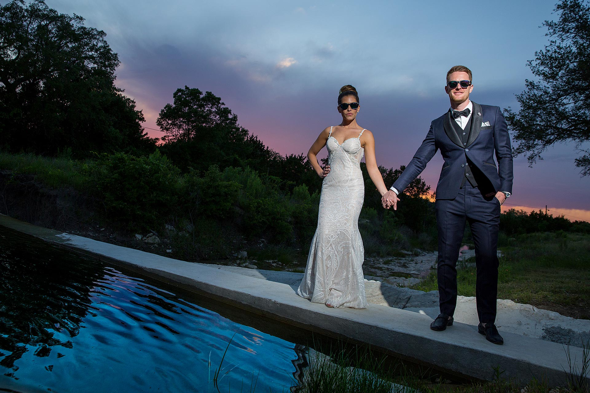 Sunset Wedding at Creek Haus