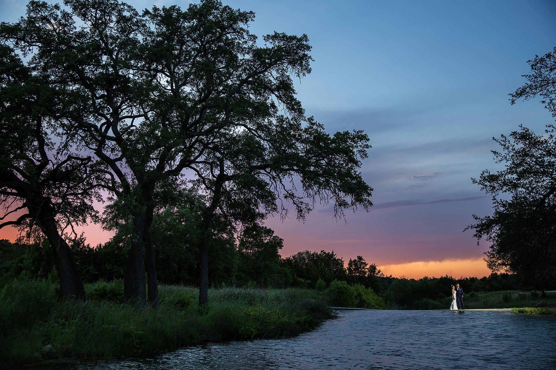Sunset at Creek Haus